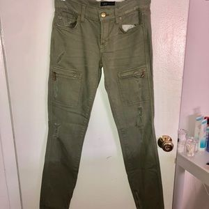Work Custom Jeans Panther Zip Cargo in Olive Oil